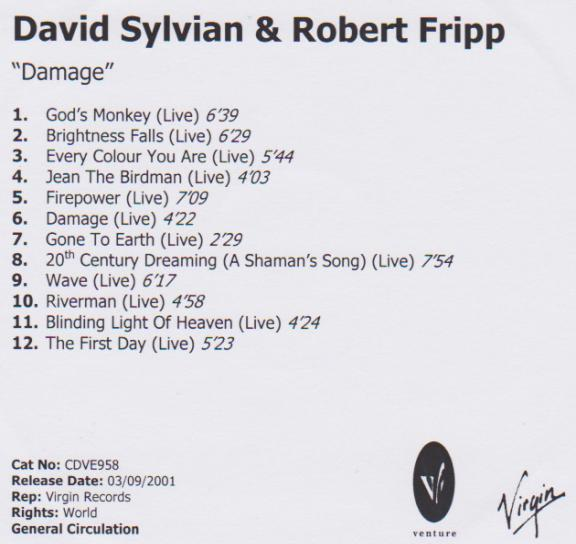 David Sylvian/Robert Fripp-Damage