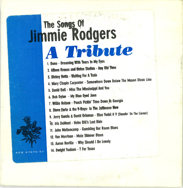 THE SONGS OF JIMMIE RODGERS - A TRIBUTE