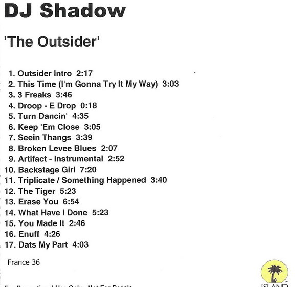 DJ Shadow - The Outsider