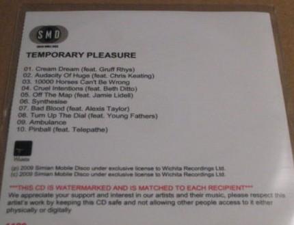Simian Mobile Disco - Temporary Pleasure