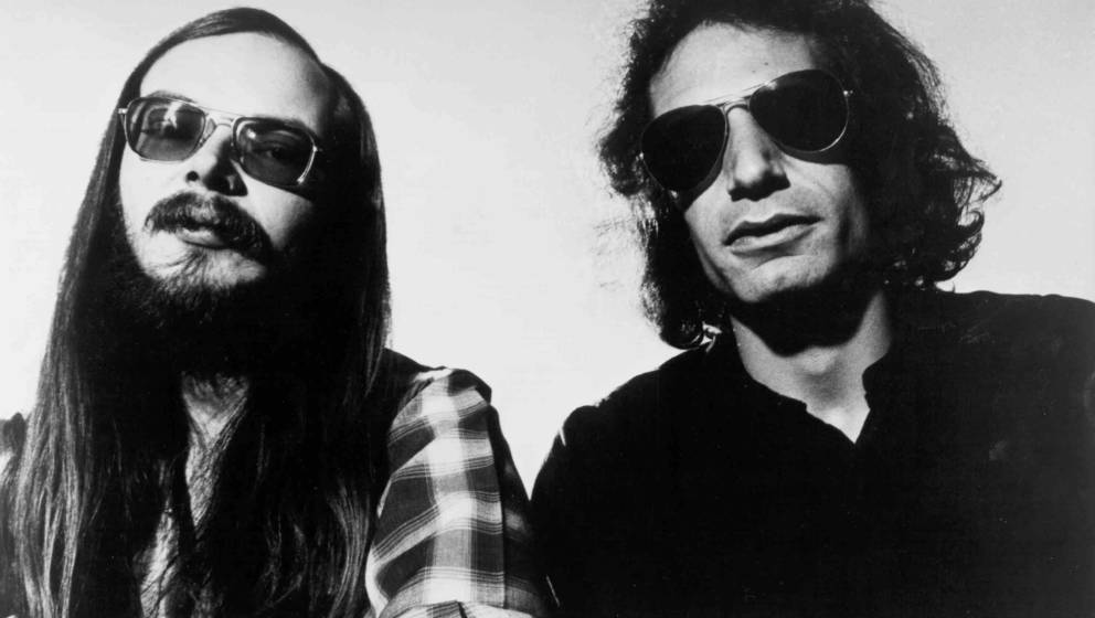 APRIL 1978:  Walter Becker and Donald Fagen of 'Steely Dan' pose for a portrait in April 1978. (Photo by Michael Ochs Archive