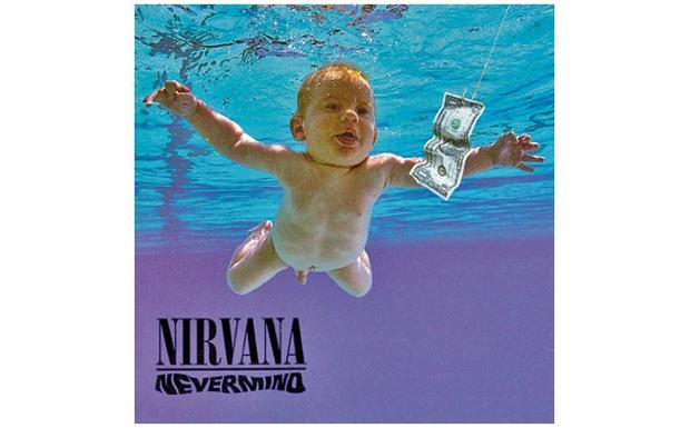 Natürlich mit dabei: 'Nevermind'. Das Alternativcover war im übrigen um einen zensierenden Aufkleber ergänzt, der jeden de