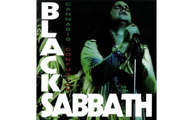 Und Black Sabbath ließen alle Musikinstrumente weg und stellten lieber eine Marihuana-Pflanze ins Bild. Und die bleibt dazu