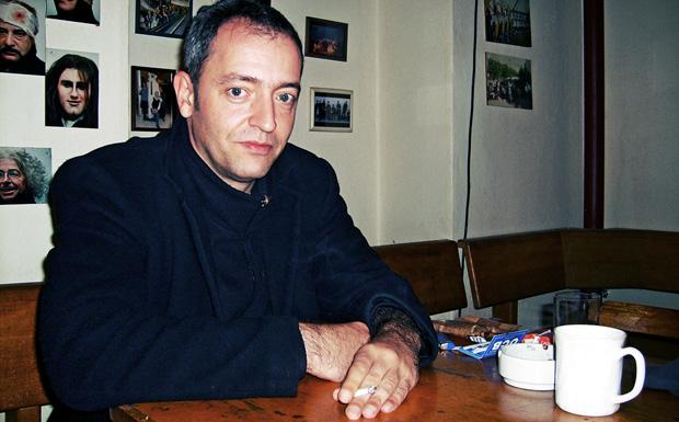 Rainald Grebe beim Interview