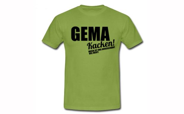 'GEMA kacken' fordern die Gegner der GEMA Tarifreform