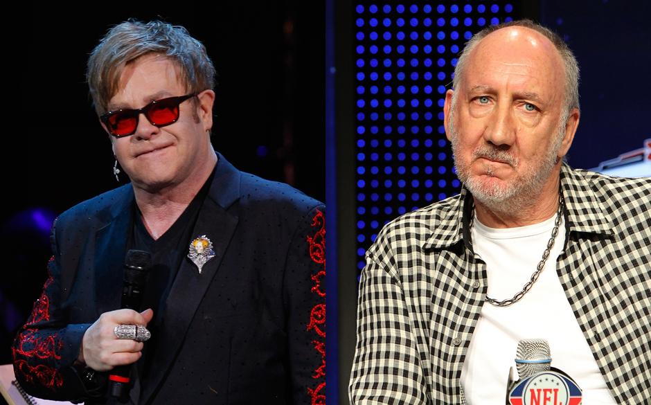 Elton John und Pete Townshend ( The Who) fordern besseren Urheberrechtsschutz
