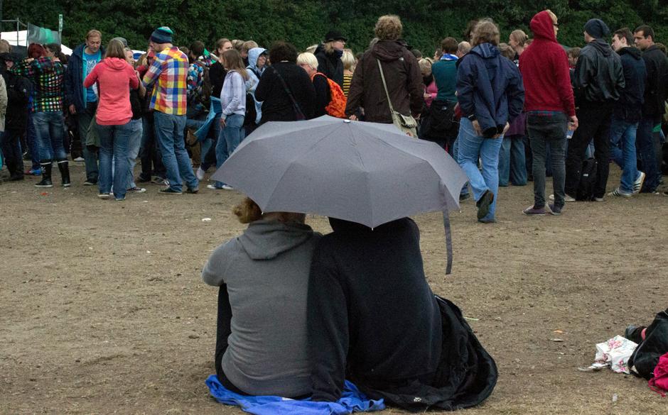 Ein kurzer Regenguss.