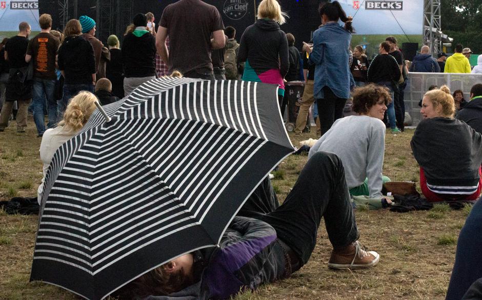 Brauchte man nur selten den Schirm.