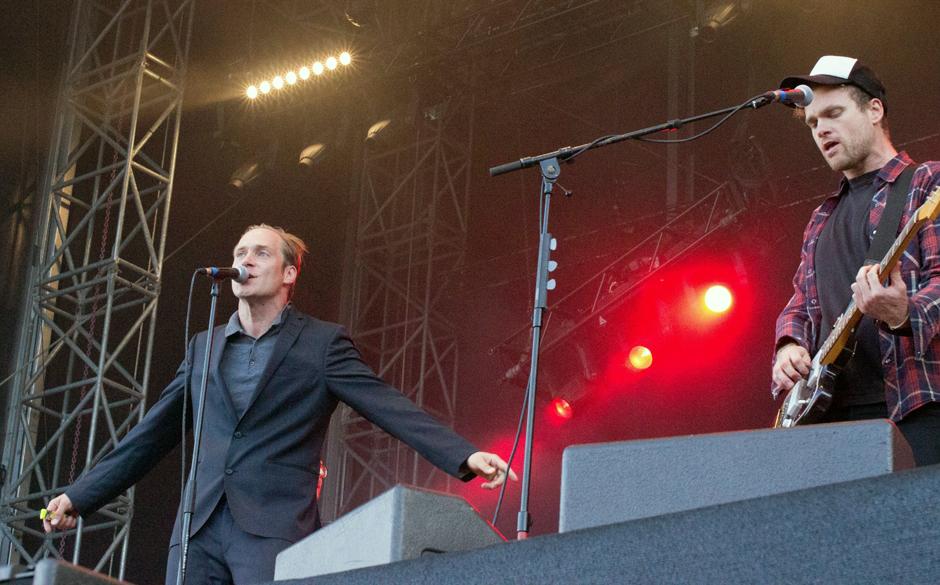 Für seine Show mit der eigenen Band warf sich Uhlmann in Schale.