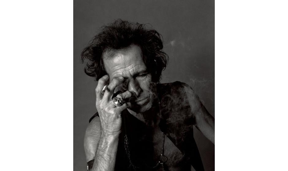 Der rauchende Keith Richards.