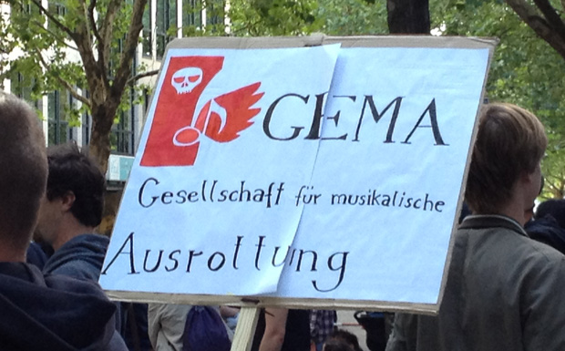 Demonstration gegen die GEMA-Tarifreform (06.09.12 in Berlin)