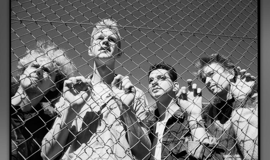 UNITED KINGDOM - SEPTEMBER 02:  Photo of DEPECHE MODE; Depeche Mode at Shepherd's Bush, London,UK 2 september 1982  (Photo by