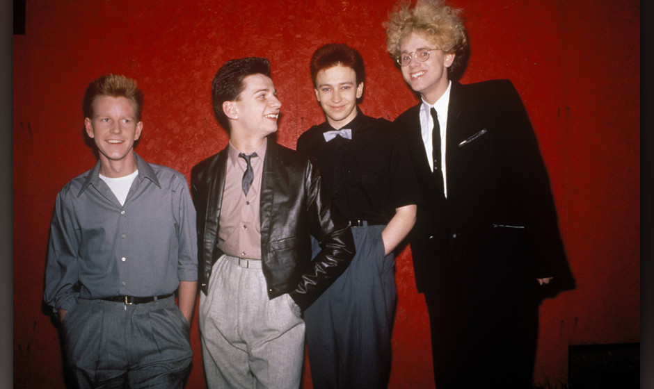 CANADA - MAY 01:  Photo of Andrew FLETCHER and Martin GORE and Dave GAHAN and DEPECHE MODE; L-R: Andrew Fletcher, Dave Gahan,