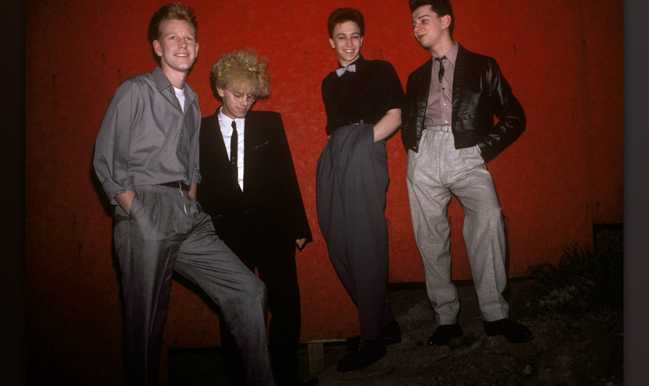 CANADA - MAY 01:  Photo of Andrew FLETCHER and Martin GORE and Dave GAHAN and DEPECHE MODE; L-R: Andrew Fletcher, Martin Gore