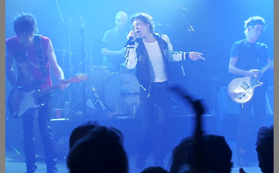 Die Rolling Stones bei ihrem Club-Konzert in Los Angeles