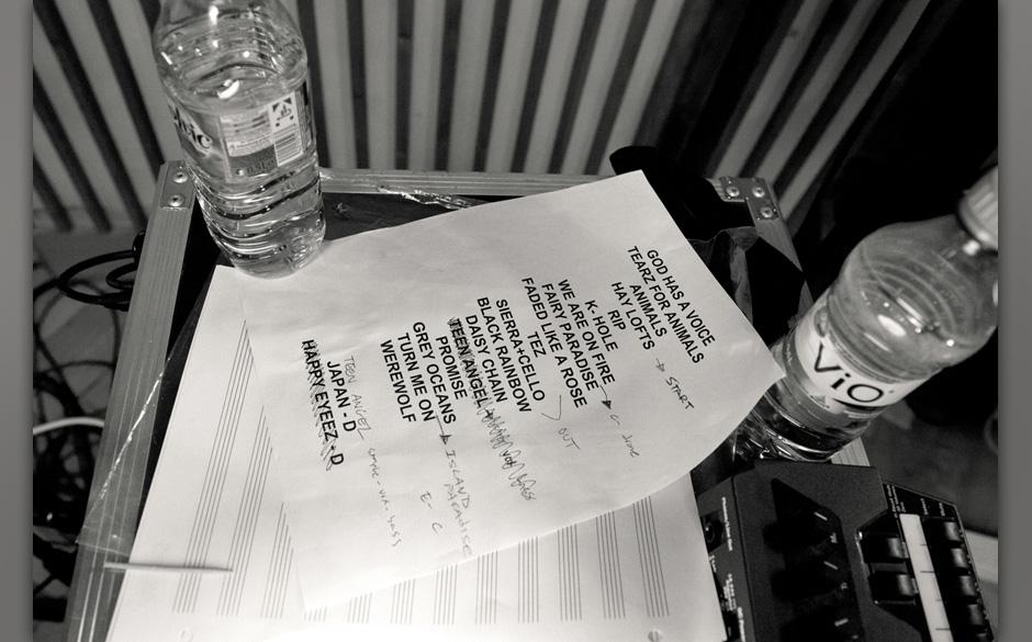 Die Setlist zu den Aufnahmen. EIne Auswahl der Songs ist in voller Länge in der Sendung zu sehen.http://aufnahmezustand.zdf
