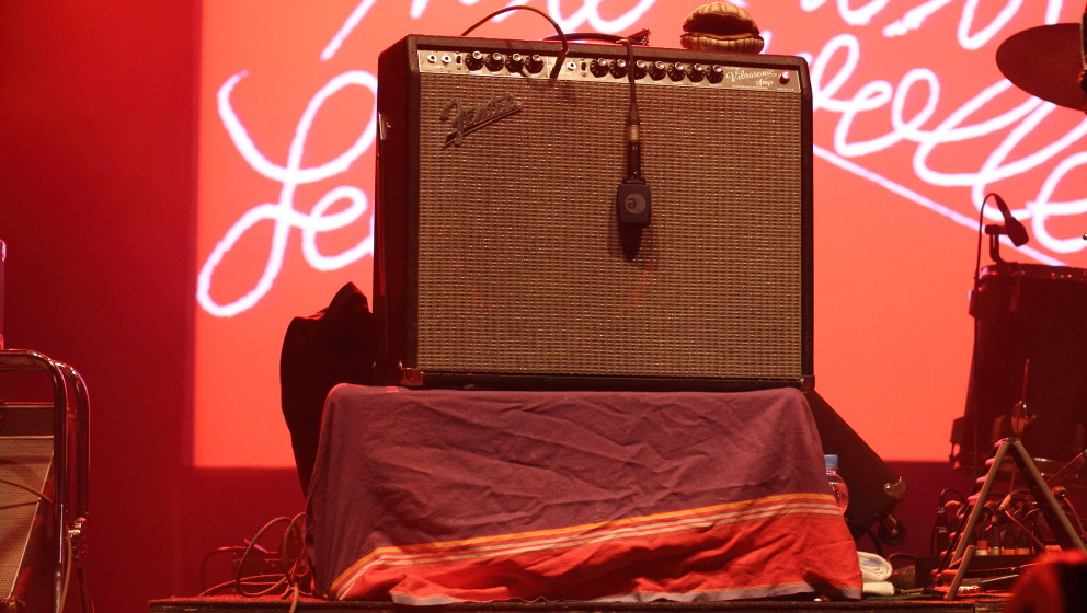 Der Fender-Verstärker hatte bei Tocotronic einen Ehrenplatz.