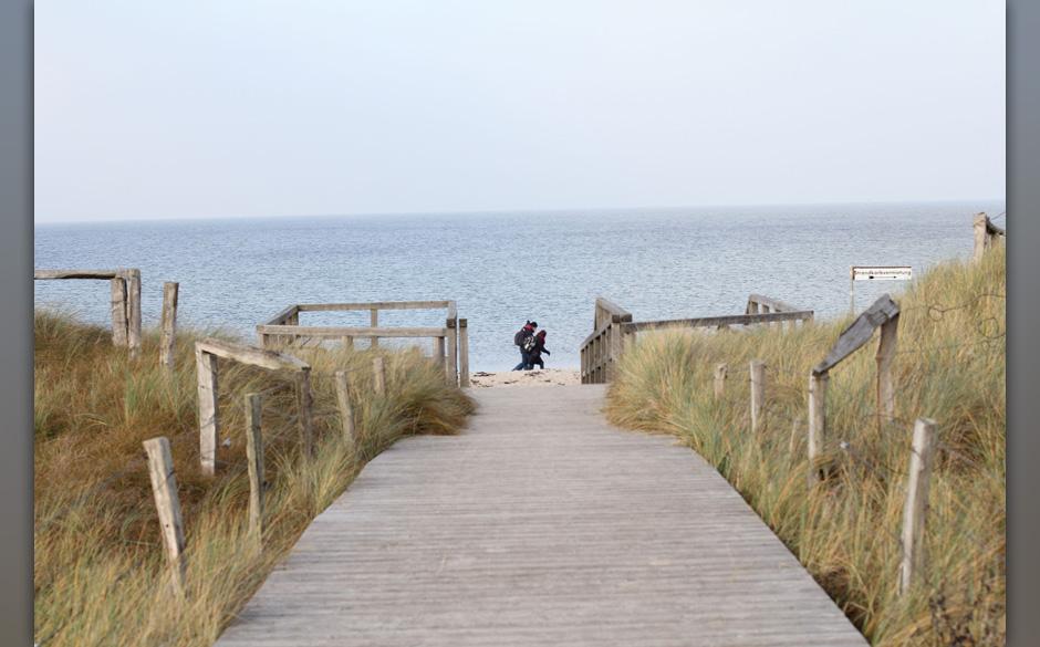 Der Weg zum Strand war auch schön, die kühle Brise war aber schon etwas gemein.