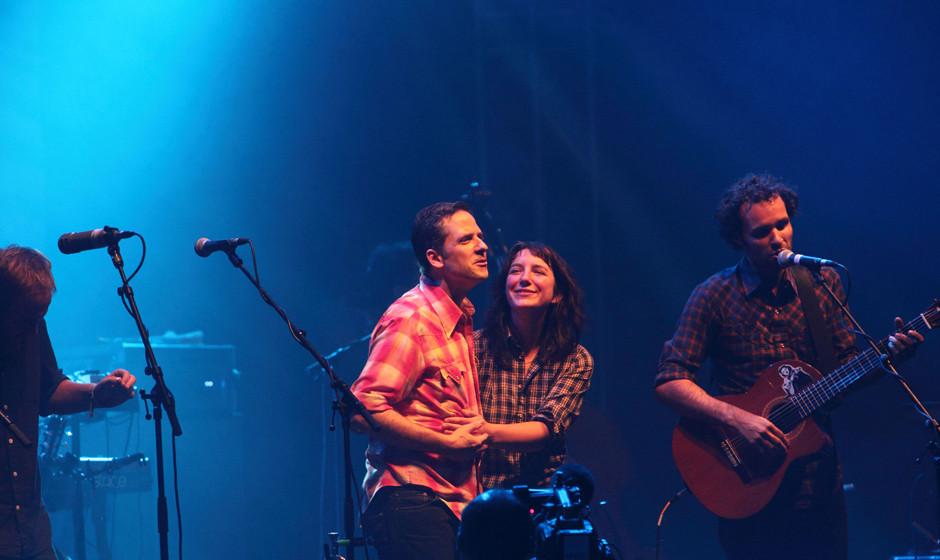 Calexico hatten Spaß. Das Publikum auch, die Band war die Einzige an dem Festival, bei der das Publikum Festival-Like mitgin