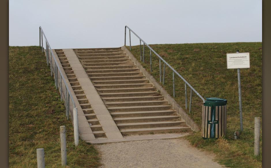 Wohin führt noch einmal diese Treppe? Ans Meer?