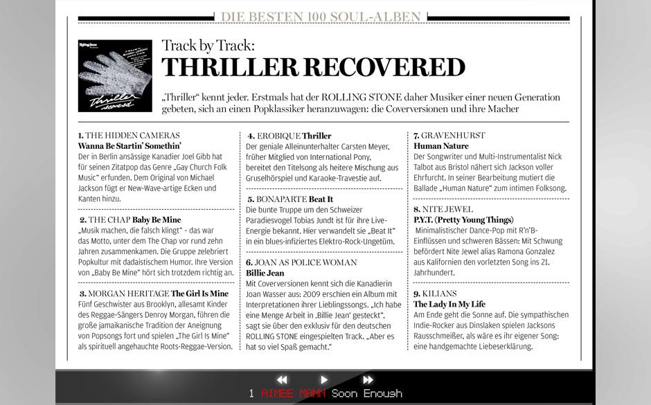 Das Album 'Thriller' ist Legende. Wir haben deshalb Künstler der heutigen Zeit gebeten, Songs des Albums neu zu interpretier