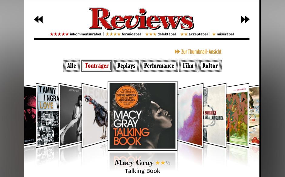 Während man die Review zu den neuesten Alben liest, kann man sich gleich überlegen. ob man den Longplayer auch gleich kaufe