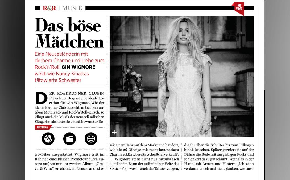 Gin Wigmore erweist sich als Frau mit derbem Charme und Sinn für Rock'n'Roll.