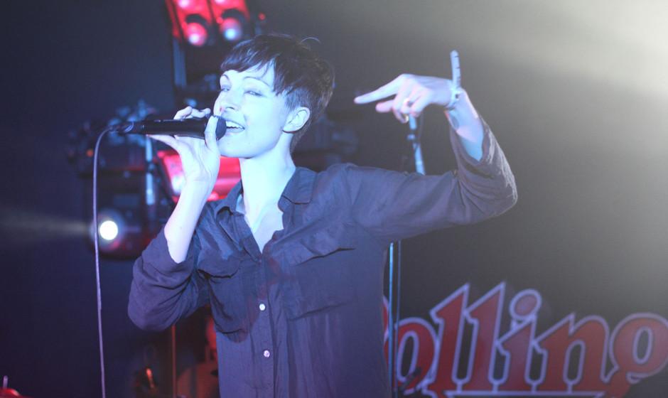 Trotz der eher nachdenklichen Stimmung rockte Channy über die Bühne.