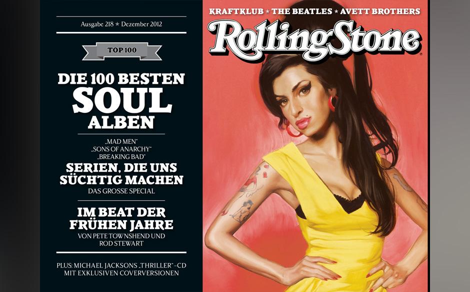 Diesmal gibt es vier Cover. Hier ist Amy Winehouse zu sehen.