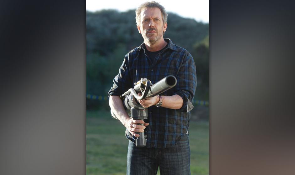 House (Hugh Laurie) und 'Dreizehn' nehmen an einem Wettkampf der besonderen Art teil - einem Kartoffel-Wettschieflen.