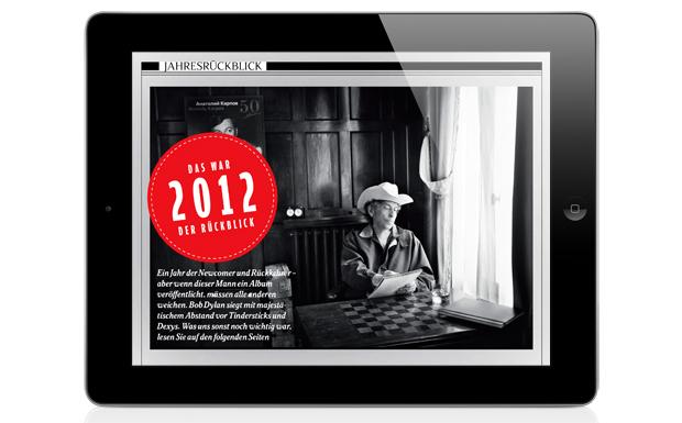 Wir verabschieden uns vom Jahr 2012 und lassen noch mal die wichtigsten Ereignisse Revue passieren und küren unsere Platte d