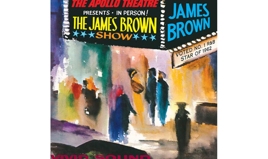 30. James Brown  - 'Live At The Apollo' (Polydor, 1963) Schweiß, Absätze,glänzender Anzug,glänzende Haare, Apnoetaucher-L