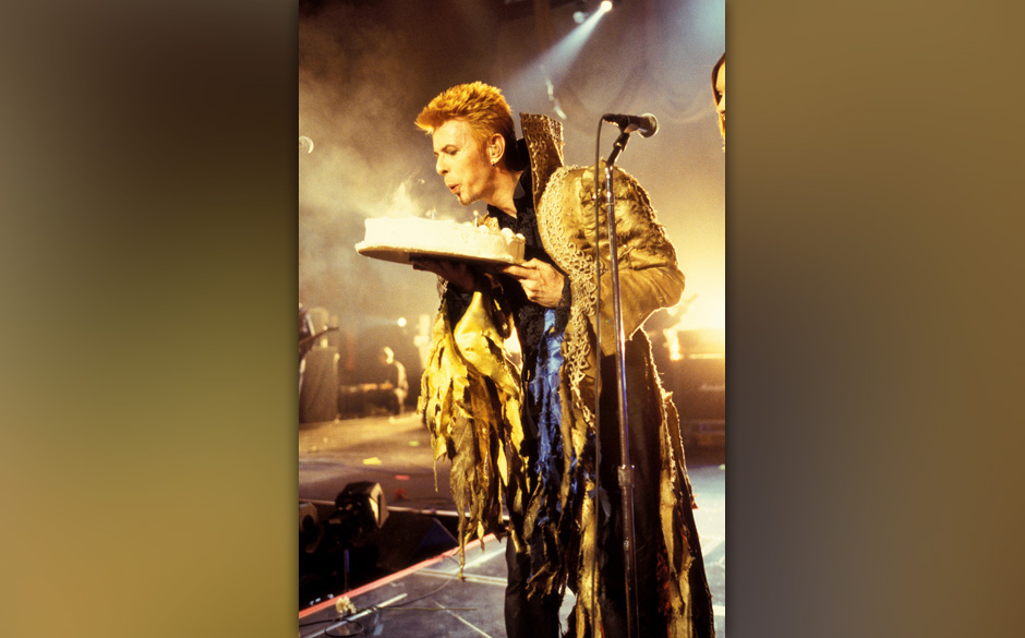 David Bowie during David Bowie's 50th Birthday Celebration Concert at Madison Square Garden in New York City, New York, Unite