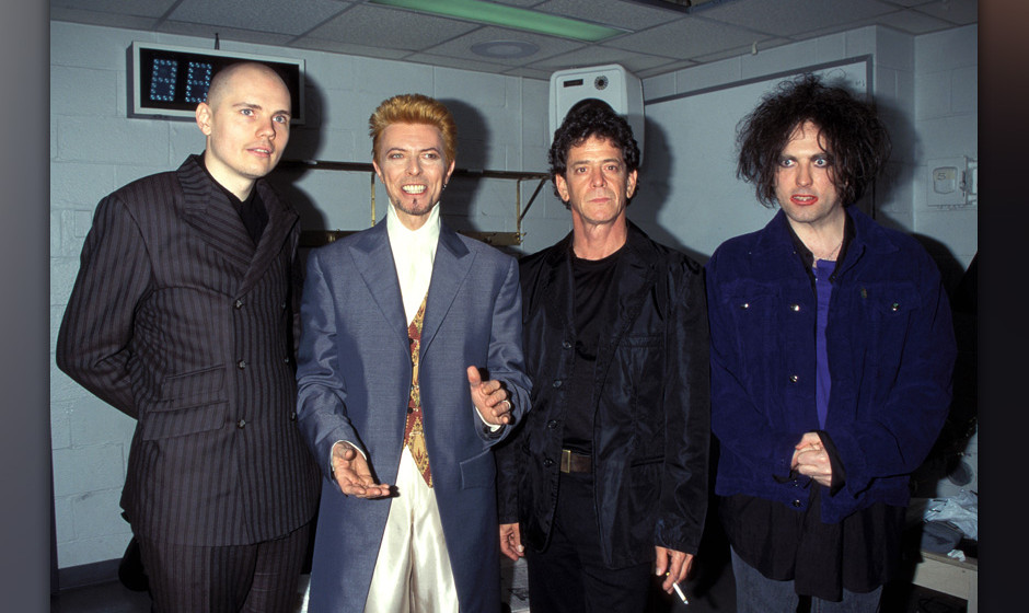 Billy Corgan, David Bowie, Lou Reed and Robert Smith (Photo by KMazur/WireImage)