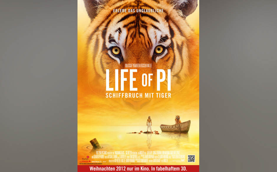 Nominiert in der Kategorie: bester Film - 'Life Of Pi: Schiffbruch mit Tiger'