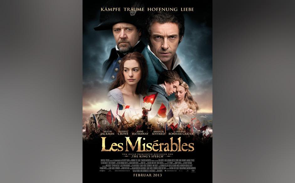 Der Musical-Film 'Les Misérables' wird in der Kategorie 'Bester Film - Komödie/Musical' ausgezeichnet.