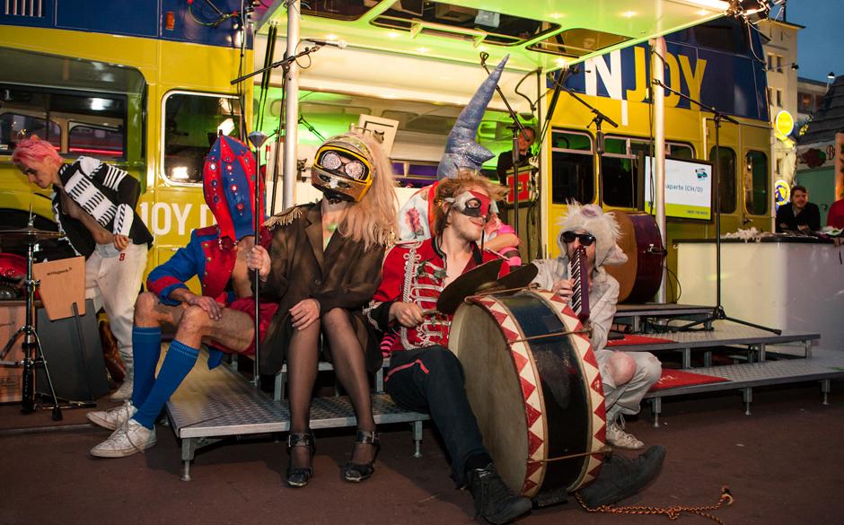 Bonaparte at the NJoy Bus, Spielbudenplatz, Reeperbahn Festival 2012.