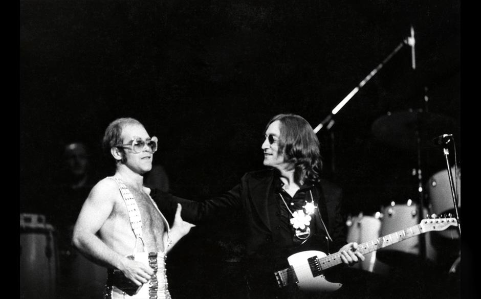 John Lennon und Elton John 1974.