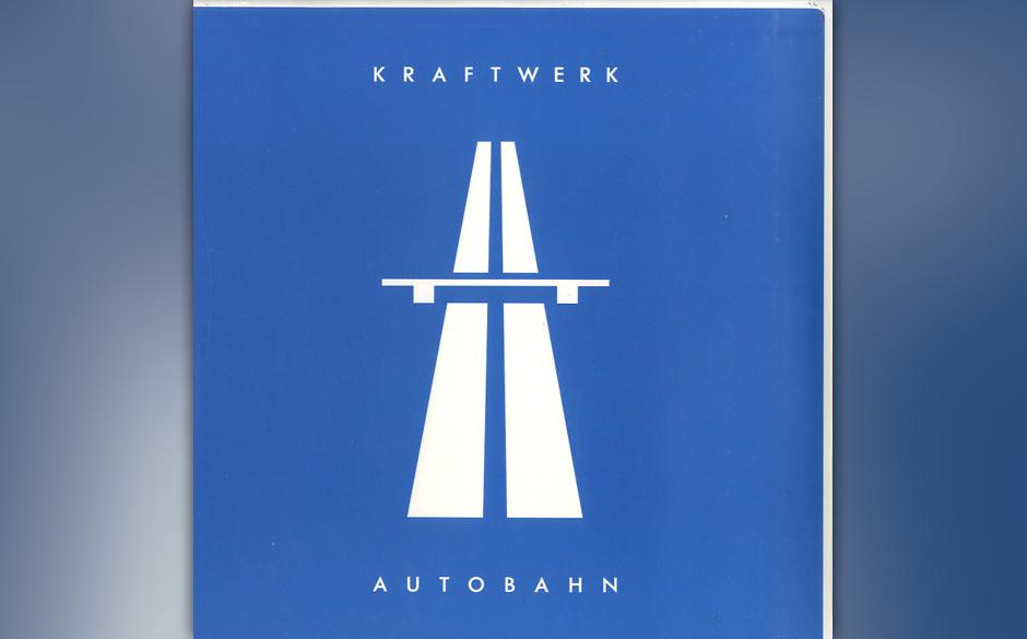 Kraftwerk - Autobahn, 1974 (Philips): Auf Planks zweiter Kraftwerk-Produktion verabschieden sich die  Düsseldorfer vom Kra