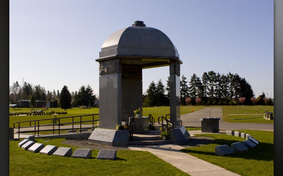 The grave of Jimi Hendrix in Renton, Washington.