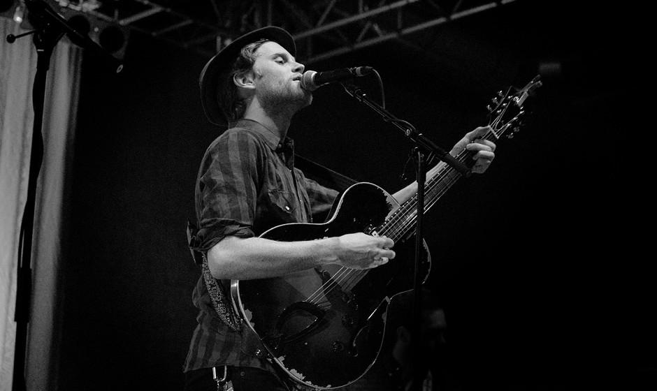 Wesley Schultz von The Lumineers beim Konzert in Berlin.
