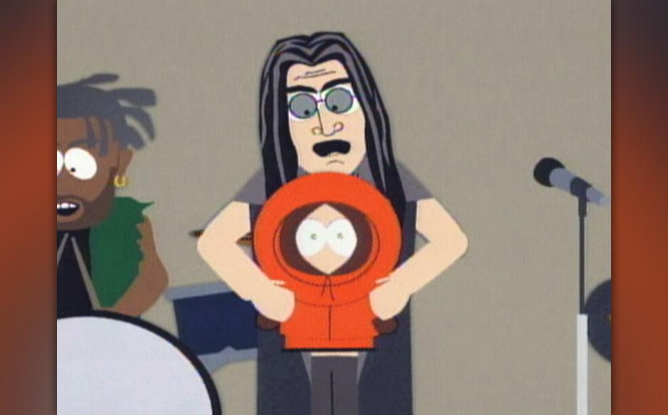 Ozzy Osbourne, gerade dabei, Kenny den Kopf abzubeissen.