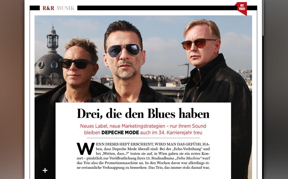 Depeche Mode haben den Blues.