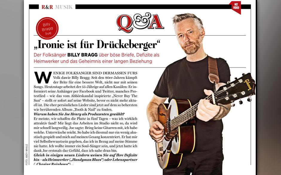 Billy Bragg: 'Ironie ist für Drückeberger'.