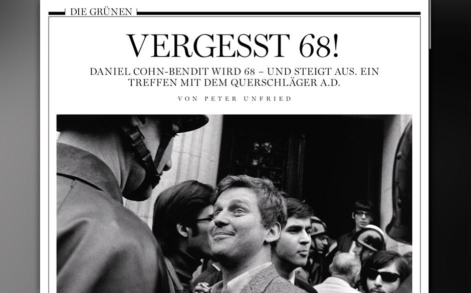 Daniel Cohn-Bendit sagt: 'Vergesst 68!'