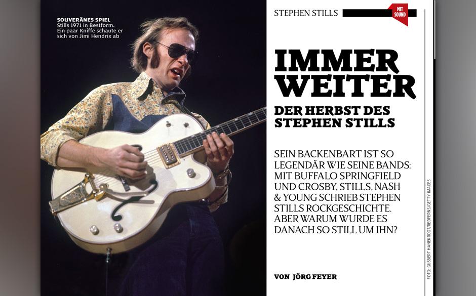 Berühmter Backenbart: Stephen Stills.