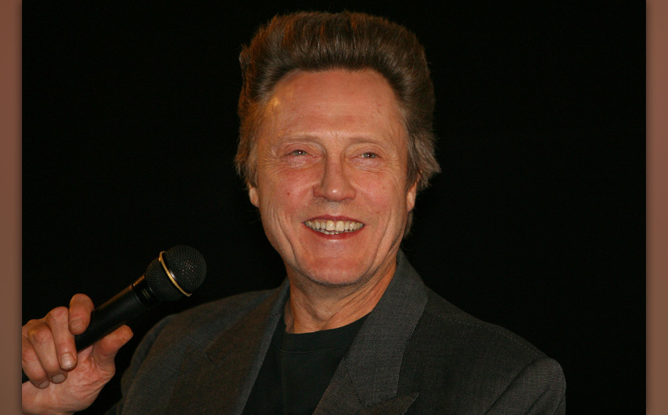 Christopher Walken talks to a full theatre after a screening of 'Catch Me If You Can' at the Egyptian Theatre on Friday Dec.