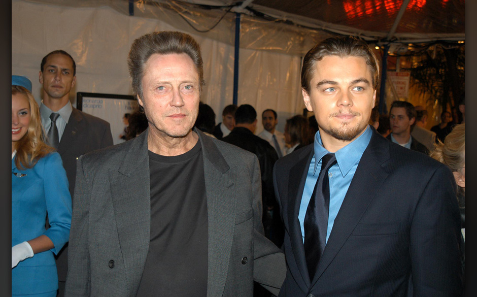 Christopher Walken and Leonardo DiCaprio during Dreamworks Premiere of Catch Me If You Can at Mann Village Theater in Westwoo