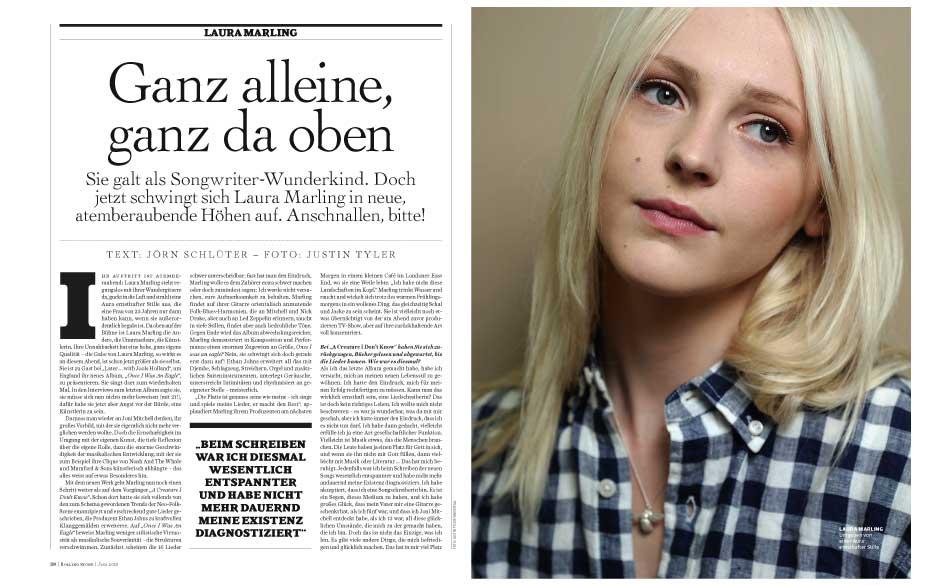 Laura Marling: Umgeben von einer Aura ernsthafter Stille.