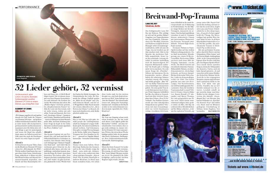 Konzert-Reviews u.v.m.